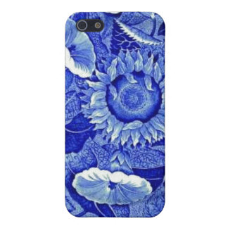 Sunflower Blue White Flower China Pattern Dishes iPhone SE/5/5s Case