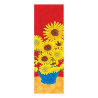 Sunflower Bookmark Business Cards