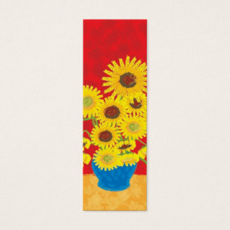 Sunflower Bookmark Mini Business Card