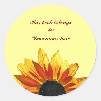 Sunflower Bookplate