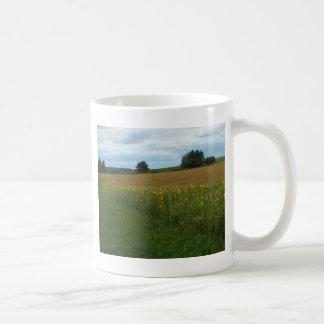 Sunflower Border Coffee Mug