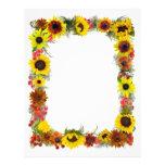 Sunflower Border Custom Letterhead