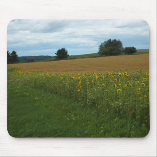 Sunflower Border Mouse Pad