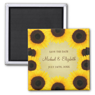 Sunflower Border Save the Date Magnet