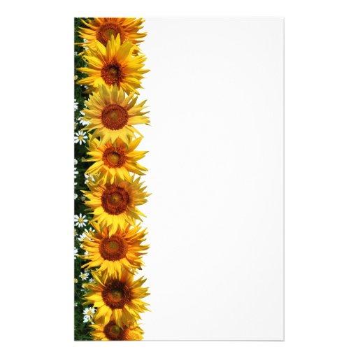 Sunflower Border Stationery | Zazzle