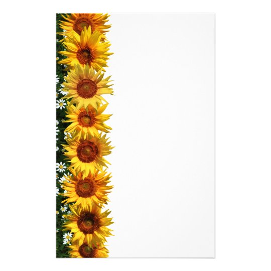 Sunflower Border Stationery Zazzle Com