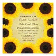Sunflower Border Wedding Custom Invites