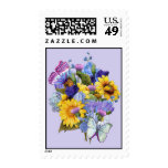 Sunflower Bouquet 2 Postage Stamps