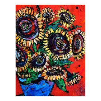 Sunflower Bouquet #2 Postcard