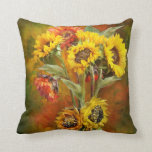 Sunflower Bouquet Art Designer Pillow