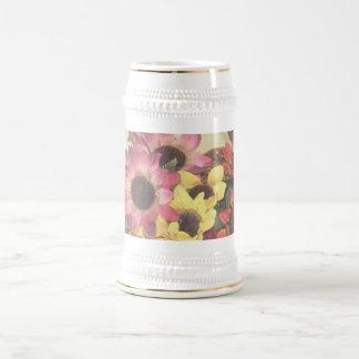 Sunflower Bouquet Beer Stein