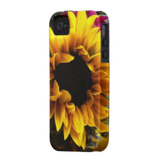 Sunflower bouquet iPhone 4 cases
