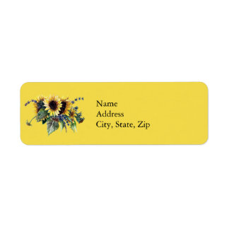 Sunflower Bouquet Label