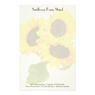 Sunflower Bouquet Personal Business Paper