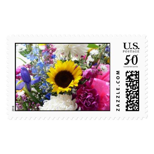 Sunflower bouquet postage