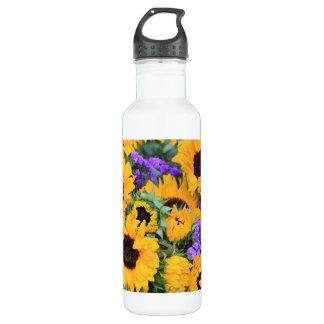 Sunflower Bouquet Stainless Steel Water Bottle