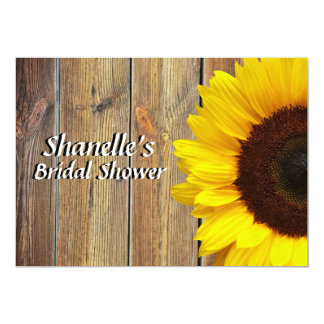 Sunflower bridal Shower 5x7 Paper Invitation Card