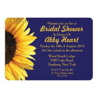 Blue Sunflower Bridal Shower Invitations Announcements Zazzle