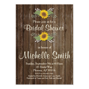 Sunflower bridal shower invitations announcements zazzle sunflower bridal shower invitation rustic floral invitation filmwisefo