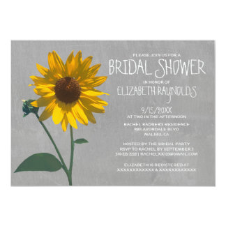 "Sunflower Bridal Shower Invitations 5"" X 7"" Invitation Card"