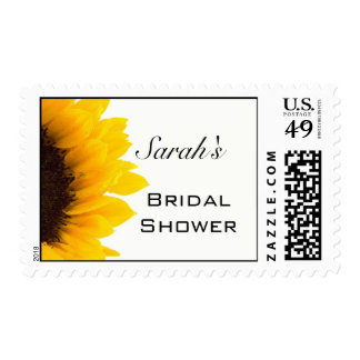 Sunflower Bridal Shower Postage