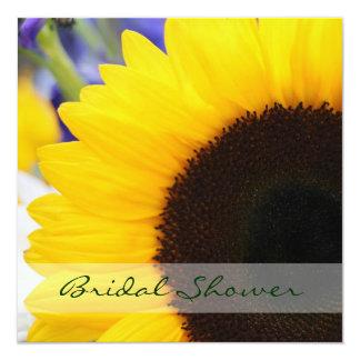 Sunflower Bridal Shower Square 5.25x5.25 Square Paper Invitation Card