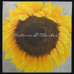 "Sunflower Bride and Groom Cloth Napkin<br><div class=""desc"">Sunflower Bride and Groom Reception  or Anniversary Napkins</div>"