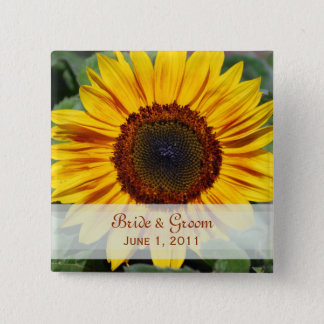 Sunflower Bride & Groom Button