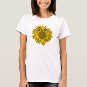 Sunflower Bride Wedding T-Shirt