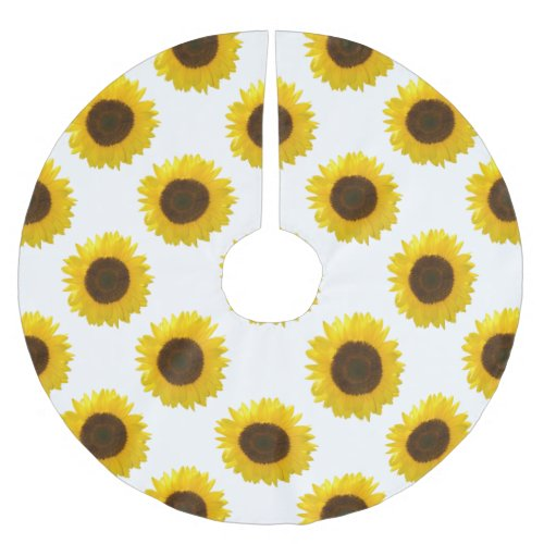Sunflower Brushed Polyester Tree Skirt