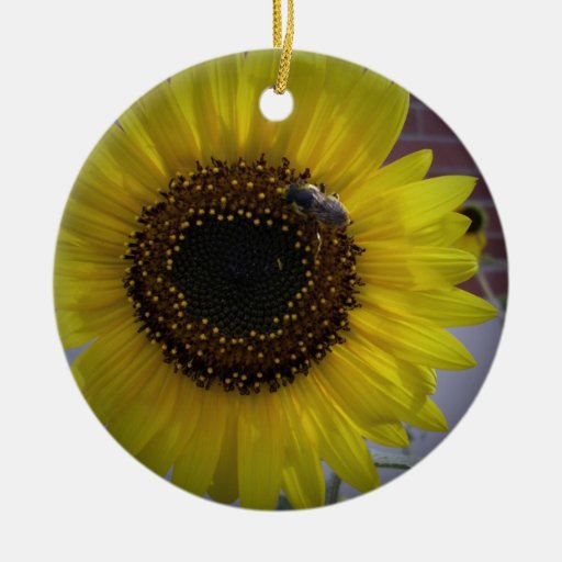 Sunflower bumble Bee 02 Ornament