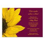 Sunflower Burgundy Bridal Shower Invitation