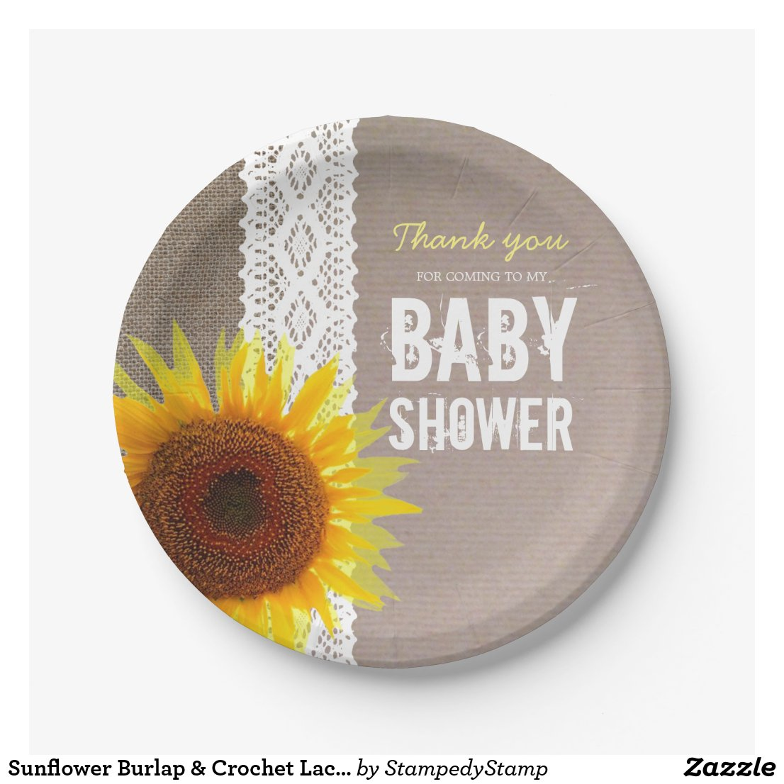 Sunflower Burlap & Crochet Lace Baby Shower
