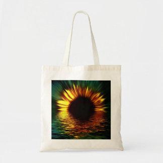 Sunflower-burst Over Water Bags