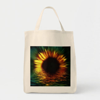 Sunflower-burst Over Water Tote Bag