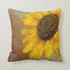 Sunflower Burst Pillow