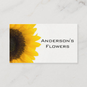sunflower business card