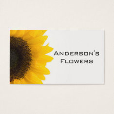 Sunflower Business Card at Zazzle