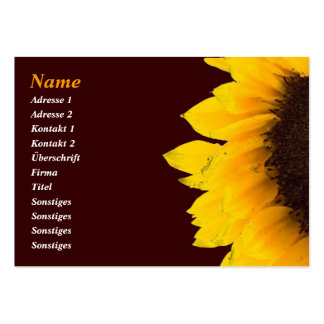 Sunflower Businesses Card/sunflower visiting card Large Business Cards (Pack Of 100)