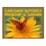 Sunflower Butterfly Friendship & Sunshine Post Card