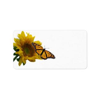 Sunflower & Butterfly Label