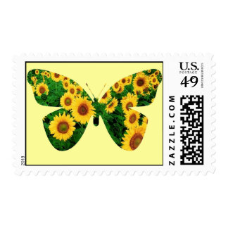 Sunflower Butterfly Postage