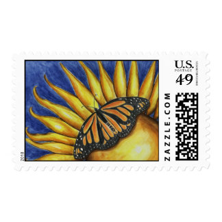Sunflower Butterfly Postage Stamp