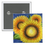 Sunflower Button Pin