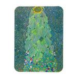Sunflower by Klimt, Vintage Flowers Art Nouveau Rectangular Magnet