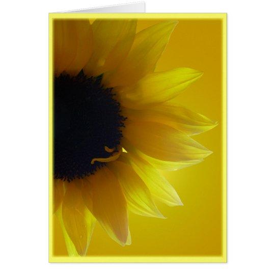 Sunflower Card Yellow Flower Greeting Card Blank