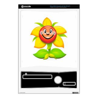 Sunflower cartoon xbox 360 s console skins