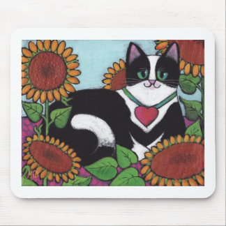 Sunflower Cat Mouse Pad