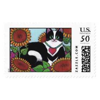 Sunflower Cat Postage