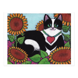Sunflower Cat Post Card